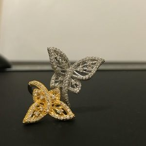 TWO-TONE Butterfly FASHION RING